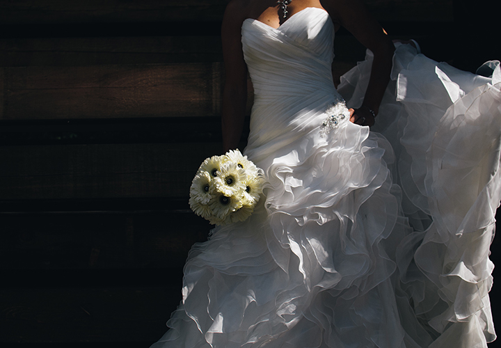 White wedding dress. Photo by Scott Webb, Unsplash.
